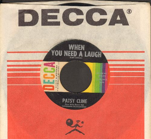 Cline, Patsy - When You Need A Laugh/I'll Sail My Ship Alone (MINT condition with Decca company sleeve) - VG7/ - 45 rpm Records