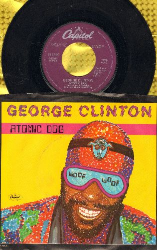 Clinton, George - Atomic Dog/Atomic Dog (Instrumental) (with picture sleeve) - VG6/VG7 - 45 rpm Records