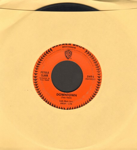 Clark, Petula - Downtown/You'd Better Love Me (with juke box label) - VG7/ - 45 rpm Records