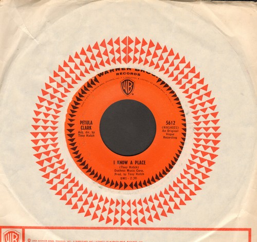 Clark, Petula - I Know A Place/Jack & John (with vintage Warner Brothers company sleeve) - NM9/ - 45 rpm Records