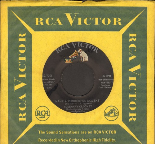 Clooney, Rosemary - Many A Wonderful Moment/Vaya Vaya (with RCA company sleeve) - EX8/ - 45 rpm Records