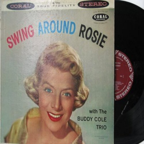 Clooney, Rosemary - Swing Around Rosie: Blue Moon, Goody Goody, Sing You Sinners, Too Close For Confort, Do Nothin' Till You Hear From Me (vinyl STEREO LP record, burgundy label first pressing) - NM9/VG7 - LP Records