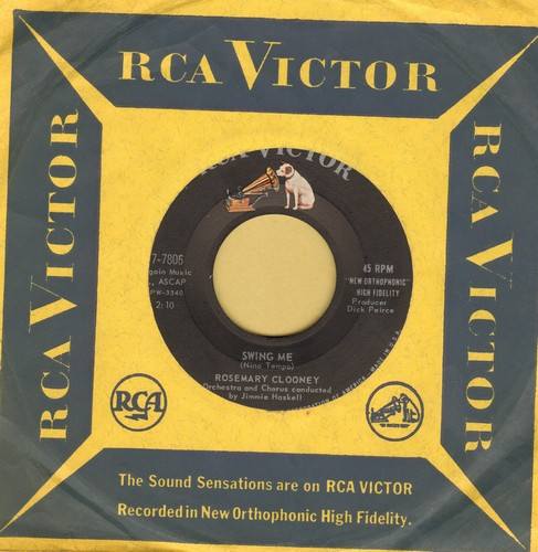 Clooney, Rosemary - Swing Me/Danke Schon (MINT condition with RCA company sleeve) - M10/ - 45 rpm Records