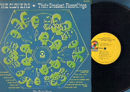 Clovers - Their Greatest Recordings - The Early Years: Devil Or Angel, Blue Velvet, Lovey Dovey, Love Potion No. 9, Little Mama, One Mint Julep (vinyl LP record, gate-fold cover) - NM9/EX8 - LP Records