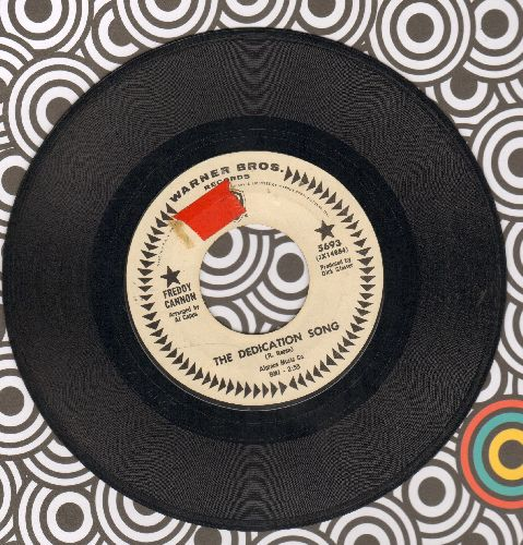 Cannon, Freddy - The Dedication Song/Come On, Come On (DJ advance pressing)(sol) - EX8/ - 45 rpm Records