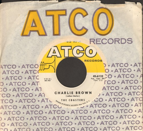 Coasters - Charlie Brown/Three Cool Cats (with vintage Atco company sleeve) - EX8/ - 45 rpm Records