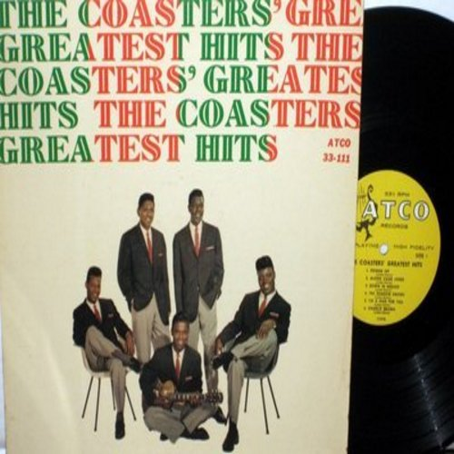 Coasters - The Coasters' Greatest Hits: Poison Ivy, Charlie Brown, Yakety Yak, Searchin', Sweet Georgia Brown, Along Came Jones (vinyl MONO LP record, RARE yellow Harp label first pressing) - VG7/EX8 - LP Records