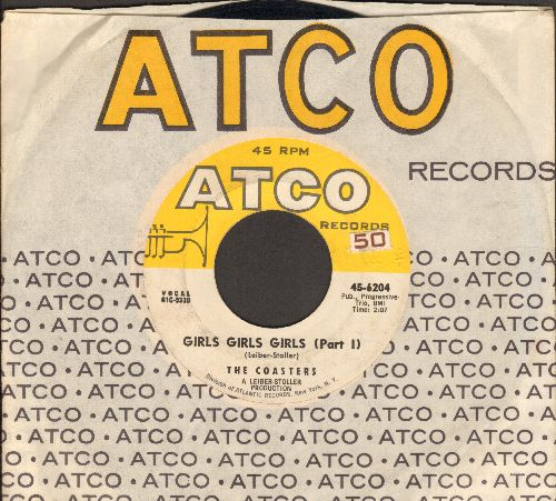 Coasters - Girls, Girls, Girls (Parts 1 + 2) (with Atco company sleeve) - EX8/ - 45 rpm Records
