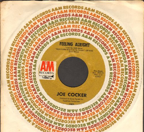 Cocker, Joe - Feeling Alright/Sandpaper Cadillac (with vintage A&M company sleeve) - NM9/ - 45 rpm Records