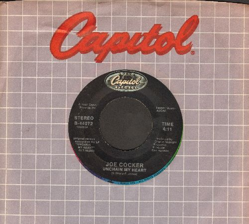 Cocker, Joe - Unchain My Heart/Satisfied (with Capitol company sleeve) - EX8/ - 45 rpm Records