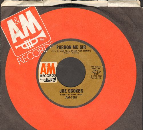 Cocker, Joe - Pardon Me Sir/St. James Infirmary Blues (with A&M company sleeve) - EX8/ - 45 rpm Records