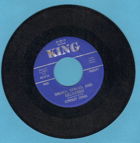 Cowboy Copas - Signed, Sealed, And Delivered/The Hopes Of A Broken Heart - NM9/ - 45 rpm Records