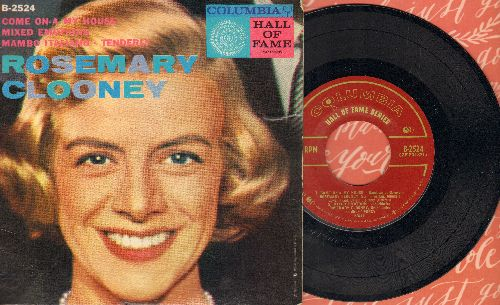 Clooney, Rosemary - Mambo Italiano/Tenderly/Come On-A My House/Mixed Emotions (vinyl EP record with picture cover) - NM9/VG7 - 45 rpm Records