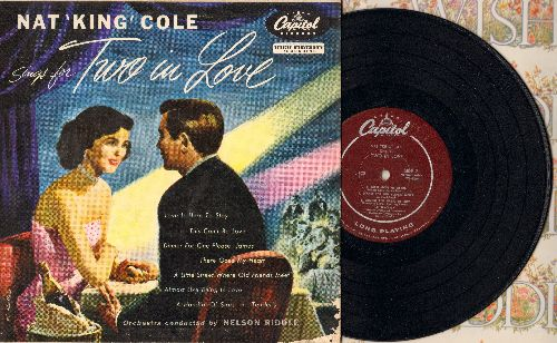 Cole, Nat King - Sings For Two In Love: Love Is Here To Stay/There Goes My Heart/Tenderly/Almost Like Being In Love + 4 (10 inch vinyl LP record with picture cover) - NM9/VG7 - LP Records
