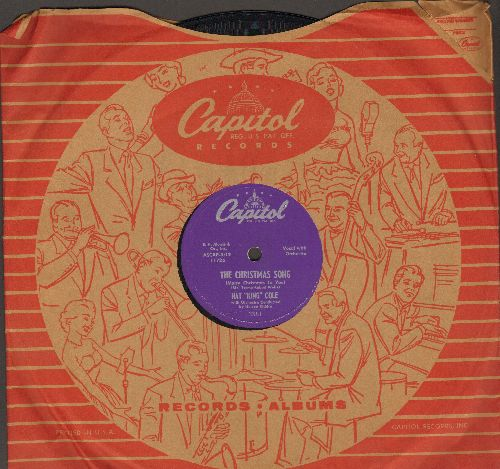 Cole, Nat King - The Christmas Song/The Little Boy That Santa Claus Forgot (10 inch 78 rpm record with Capitol company sleeve) - NM9/ - 78 rpm