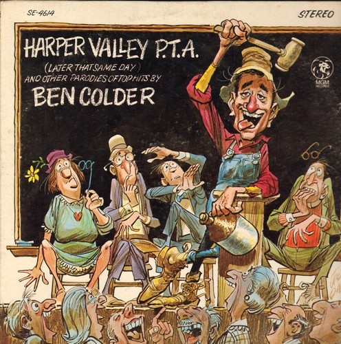 Colder, Ben - Harper Valley P.T.A.: Little Green Apples #2, Folsom Prison Blues #1 1/2, It's Flying Time (vinyl STEREO LP record) - EX8/VG7 - LP Records