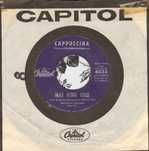 Cole, Nat King - Cappuccina/Let True Love Begin (purple label first pressing with vintage Capitol company sleeve) - NM9/ - 45 rpm Records