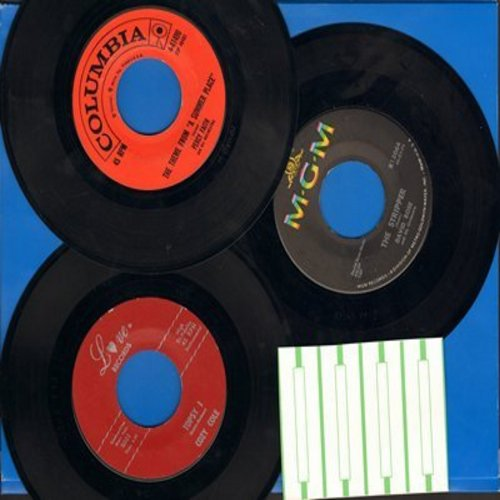 Cole, Cozy, David Rose, Percy Faith - Vintage Jazz Instrumental Trio: 3 first issue 45s, hits include The Stripper, Topsy Parts 1+2, Theme From -A Summer Place - Shipped in plain paper sleeves with 4 blank juke box labels. GREAT for a juke box! - EX8/ - 4