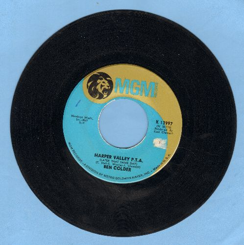 Colder, Ben - Harper Valley P.T.A./Folsom Prison Blues No. 1 1/2 - VG7/ - 45 rpm Records