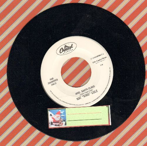 Cole, Nat King - Mrs. Santa Claus/Take Me Back To Toyland - NM9/ - 45 rpm Records