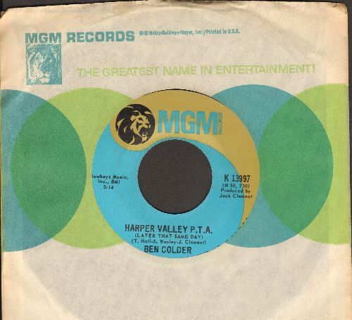 Colder, Ben - Harper Valley P.T.A./Folsom Prison Blues No. 1 1/2 (with MGM company sleeve) - EX8/ - 45 rpm Records