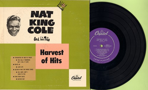 Cole, Nat King - Harvest Of Hits: Straighten Up And Fly Right/Route 66/Lush Life/Nature Boy + 4 (10 inch vinyl EP record with picture cover, RARE 1950 first pressing!) - NM9/EX8 - LP Records