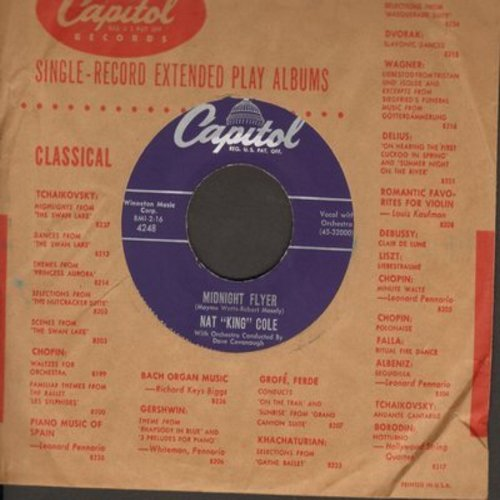 Cole, Nat King - Midnight Flyer/The Sweet Bird Of Youth (with vintage Capitol company sleeve) - M10/ - 45 rpm Records