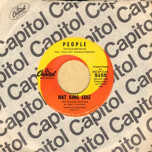 Cole, Nat King - People/I Don't Want To Be Hurt Anymore (with vintage Capitol company sleeve) - NM9/ - 45 rpm Records
