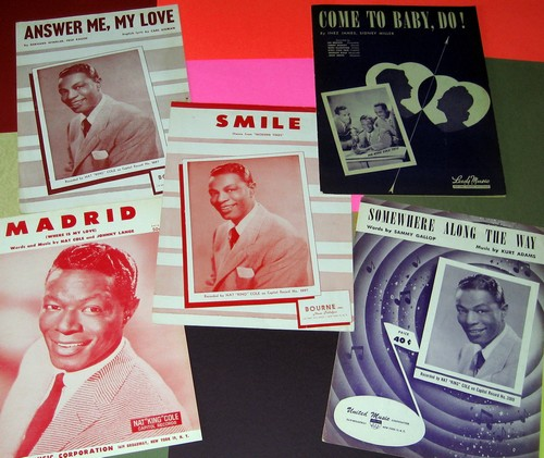 Cole, Nat King - Vintage Sheet Music - Set of 5 (exactly as pictured!) by the incomparable Nat