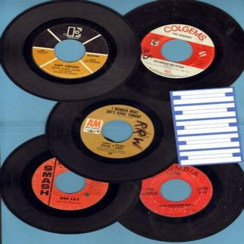 Monkees, Boyce & Hart, Cyrkle, Judy Collins, Dee Jay & The Runaways - Bubble Gum Sound 5-Pack: 5 first issue 45s in very good or better conditon, shipped in white paper sleeves with strip of 5 blank juke box labels. Hits include Daydream Believer, Both Si