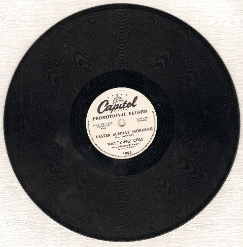 Cole, Nat King - Easter Sunday Morning/Summer Is A-Comin' In (10 inch 78 rpm record, DJ avance pressing) - EX8/ - 78 rpm