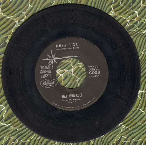 Cole, Nat King - Mona Lisa/Too Young (double-hit re-issue) - VG7/ - 45 rpm Records