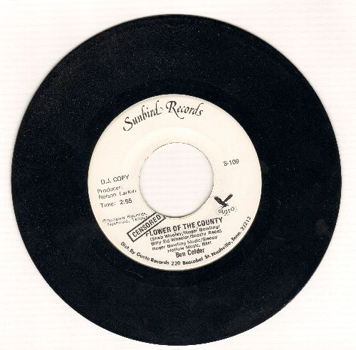 Colder, Ben - Flower Of The Country (DJ advance pressing featurng CENSORED and unsensored verion of novelty-answer) - M10/ - 45 rpm Records