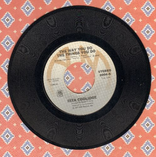 Coolidge, Rita - The Way You Do The Things You Do/I Feel The Burden  - EX8/ - 45 rpm Records