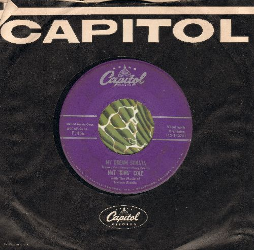 Cole, Nat King - My Dream Sonata/That's All There Is To That (with Capitol company sleeve) - VG7/ - 45 rpm Records