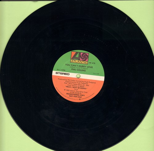 Collins, Phil - You Can't Hurry Love (double-A-sided 12 inch vinyl Maxi Single, DJ pressing) - NM9/ - Maxi Singles