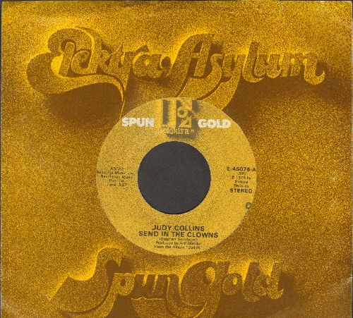 Collins, Judy - Send In The Clowns/Angel, Spread Your Wings (double-hit re-issue with company sleeve) - EX8/ - 45 rpm Records