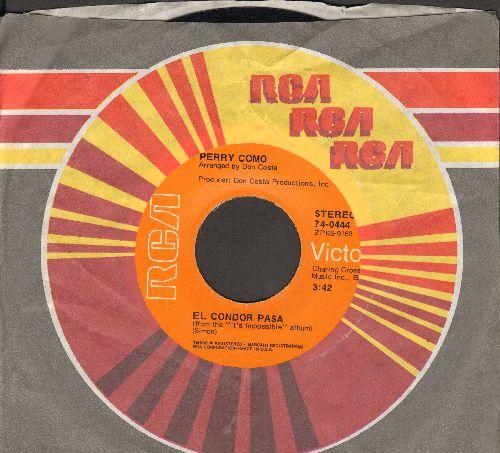 Como, Perry - El Condor Pasa/I Think Of You - EX8/ - 45 rpm Records