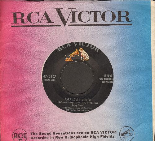 Como, Perry - Papa Loves Mambo/The Things I Didn't Do (with RCA company sleeve) - EX8/ - 45 rpm Records