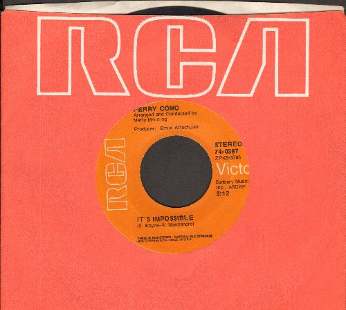 Como, Perry - It's Impossible/Long Life, Lots Of Happiness (with RCA company sleeve) - EX8/ - 45 rpm Records