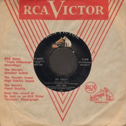 Como, Perry - Hot Diggity/Juke Box Baby - EX8/ - 45 rpm Records