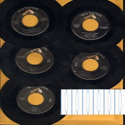 Como, Perry - Perry Como 5-Pack' first issue hit 45s includes Wanted, Hot Diggity, Round And Round, Easter Parade, Magic Moments, shipped in plain white sleeves with 6 blank juke box labels. - VG7/ - 45 rpm Records