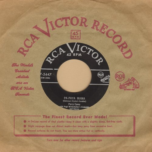 Como, Perry - Pa-Paya Mama/You Alone (with vintage RCA company sleeve) - EX8/ - 45 rpm Records