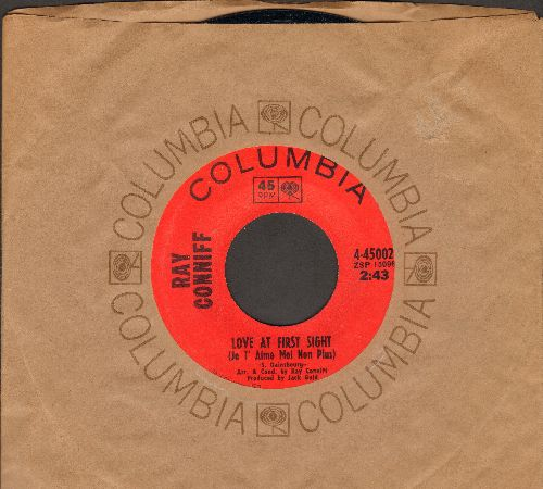 Conniff, Ray - Love At First Sight (Je T'aime Moi Non Plus)/Love Made A Fool Of Me (with Columbia company sleeve) - M10/ - 45 rpm Records