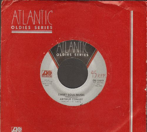 Conley, Arthur - Sweet Soul Music/Funky Street (double-hit re-issue with Atlantic company sleeve) - NM9/ - 45 rpm Records