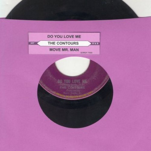 Contours - Do You Love Me/Move Mr. Man (with juke box label) (sol) - VG7/ - 45 rpm Records