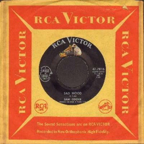 Cooke, Sam - Sad Mood/Love Me (ULTRA-DREAMY flip-side, Overlooked Gem!) (with RCA company sleeve) - EX8/ - 45 rpm Records