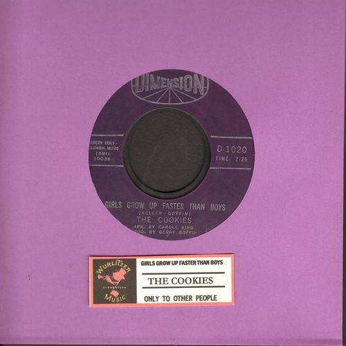 Cookies - Girls Grow Up Fatser Than Boys (FANTASTIC Vintage Girl-Group Sound!)/Only To Other People  - VG6/ - 45 rpm Records