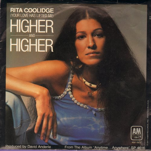 Coolidge, Rita - Higher And Higher/Who To Bless And Who's To Blame (w/pic) - NM9/VG7 - 45 rpm Records