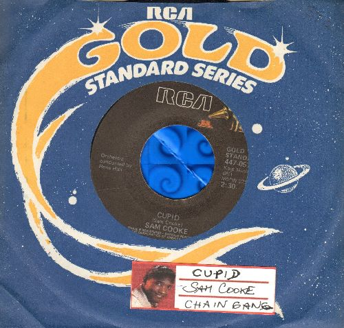 Cooke, Sam - Chain Gang/Cupid (double-hit re-issue with juke box labeland  RCA company sleeve) - NM9/ - 45 rpm Records